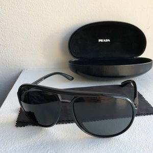 Prada Black Oversized Aviators